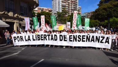 Educación concertada - Manifestación libertad