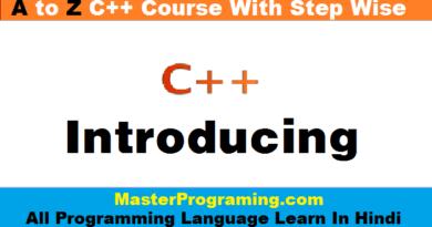 C++ in Hindi | Introducing C++ in Hindi