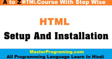 HTML Setup and Installation