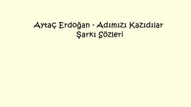 Photo of Aytaç Erdoğan – Adımızı Kazıdılar Şarkı Sözleri