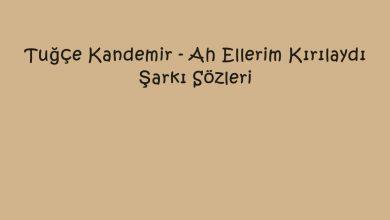 Photo of Tuğçe Kandemir – Ah Ellerim Kırılaydı Şarkı Sözleri