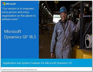 Dynamics GP 18.3 Features pdf
