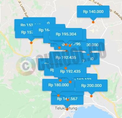 Peta sebaran hotel murah