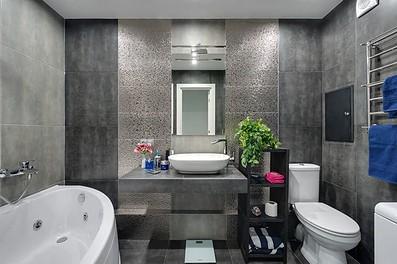 Серая ванная комната дизайн