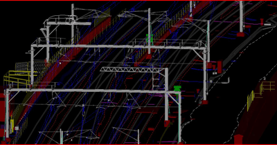 Mapping rail utilities using LiDAR.