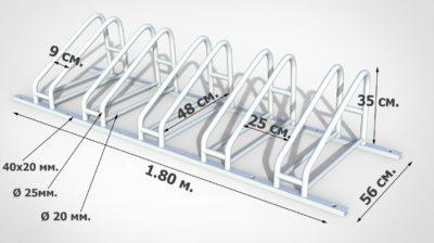Технические характеристики велопарковки для велосипедистов