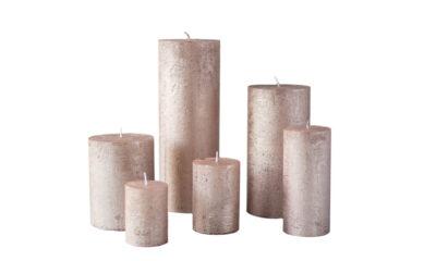 metalne roosa kuld01 400x240 - Küünal metalne roosa kuld - 6 suurust