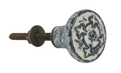 0510 00 1 400x240 - Kapinupp keraamiline antiik  viimistlus must/valge mustriga