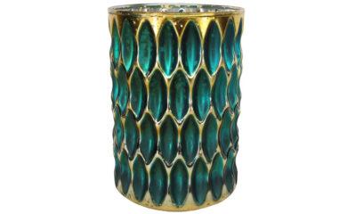 50559 400x240 - teeküünla tops klaasist türkiis/kuld suur