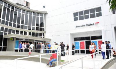 Banco del Chubut puertas cerradas
