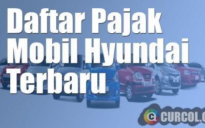 Daftar Pajak Mobil Hyundai Terbaru
