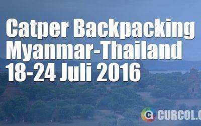 Catper Backpacking Ke Myanmar-Thailand 18-24 Juli 2016