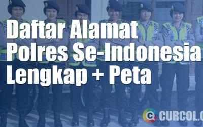 Daftar Alamat Polres Seluruh Indonesia Lengkap (Plus Peta!)