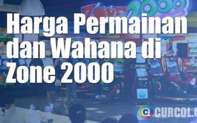 Harga Tiket Wahana dan Permainan di Zone 2000