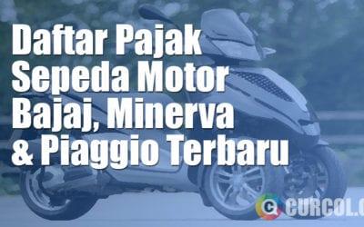 Daftar Pajak Sepeda Motor Bajaj, Minerva, dan Piaggio Terbaru