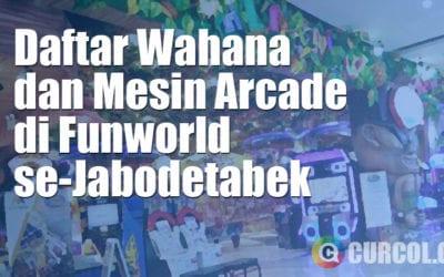 Daftar Wahana dan Mesin Arcade Tiket di FunWorld se-Jabodetabek (Dan Harga Permainannya)