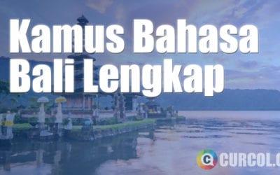 Kamus Bahasa Bali Lengkap