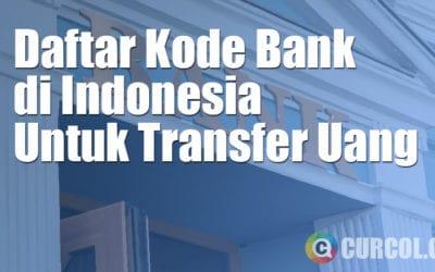 Daftar Kode Bank di Indonesia Untuk Transfer Uang