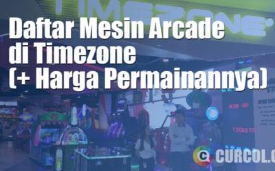 Daftar Mesin Arcade Di Timezone (Dan Harga Permainannya)