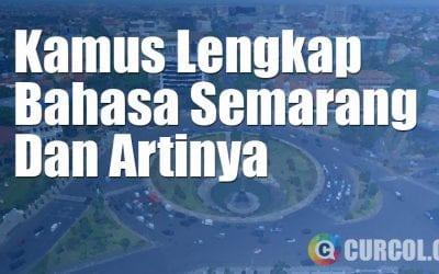 Kamus Bahasa Semarang Lengkap
