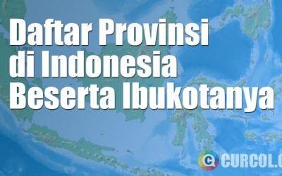 Daftar 34 Provinsi Dan Ibukotanya di Indonesia