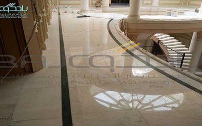 رخام روزا برتغالي بعد الجلي في قصر الامراء حي الهدى