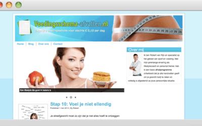 Voedingsschema-afvallen