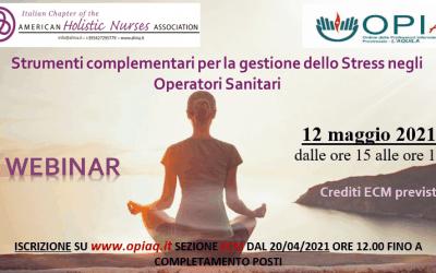 Corso OPI  L'Aquila sulla Gestione olistica dello Stress