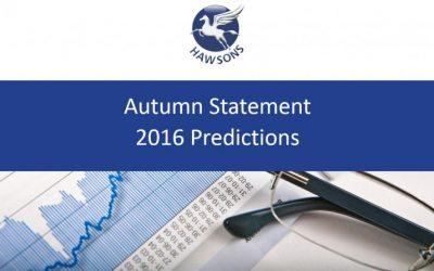 The Autumn Statement 2016 predictions