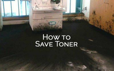 How to save copier toner