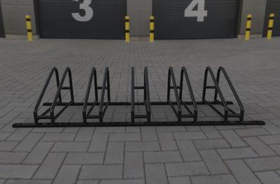 Черная велопарковка на 5 мест