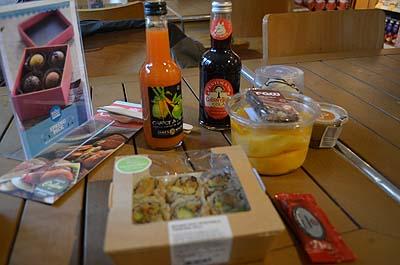 Déjeuner chez Whole Foods à Londres