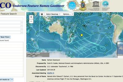 GEBCO Undersea Features Gazetteer.