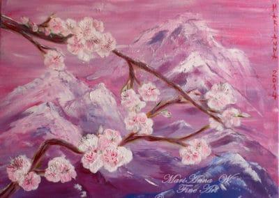 Chinoiserie, acrylic on canvas by © MariAnna MO Warr