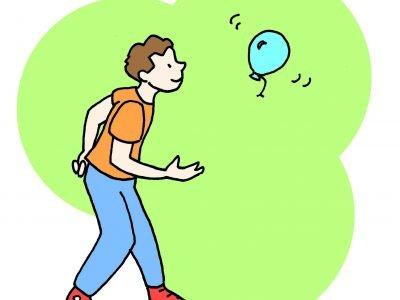 Lancio del palloncino