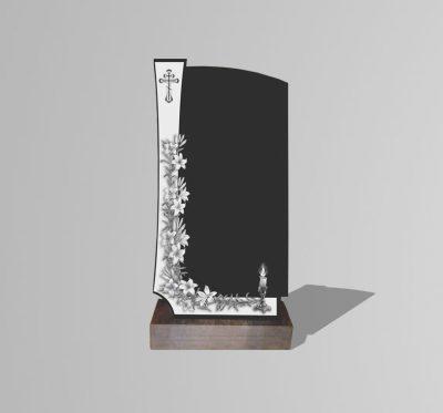 Памятник «Крест/свеча/лилии»