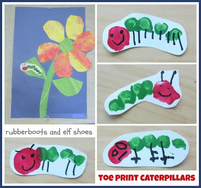 toeprint caterpillars Collage