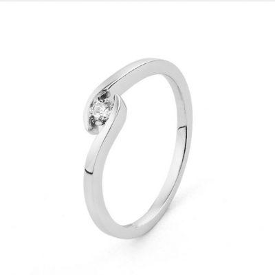 Solitario diamante central