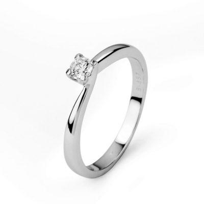 Solitario Diamante Oro blanco
