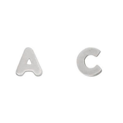 Pendientes iniciales en Oro Blanco. Ref; P1031