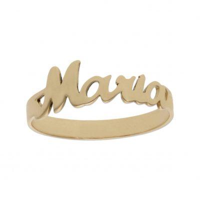 anillo nombre peronalizado