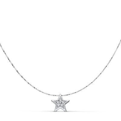Gargantilla estrella circonitas oro blanco 18Kts. PM Ref; 18737-3