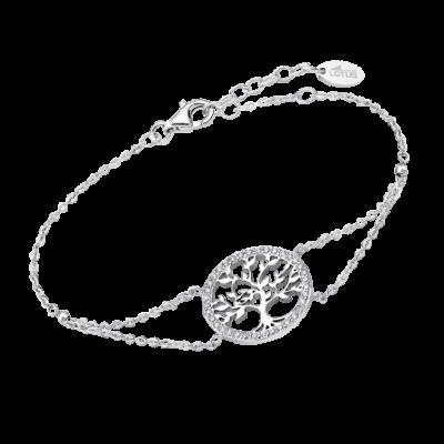 Pulsera Arbol de la Vida circonitas plata Ref; Lp1746-2/1. Preciosa pulsera con alargador para cualquier tamaño de muñeca.