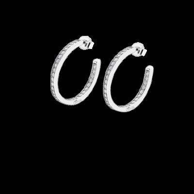 Pendiente aros circonitas plata Lp1937-4/2. De la colección It Girl, la marca Lotus Silver saca una colección de pendientes aros de plata de Ley con circonitas que no puedes dejar escapar.