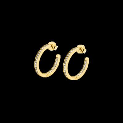 Pendiente aros circonitas plata chapada Lp1937-4/5. De la colección It Girl, la marca Lotus Silver saca una colección de pendientes aros de plata de Ley con circonitas que no puedes dejar escapar.