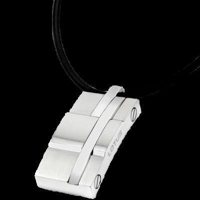 Colgante Lotus Hombre LS1316-1/1. La marca Lotus Style saca una colección para hombre en acero inoxidable 316L y cordón de cuero de 50cms ajustable.