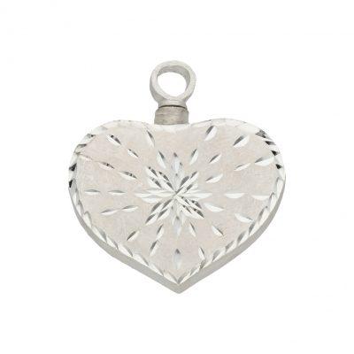 Colgante guadacenizas corazon plata L Ref; 601