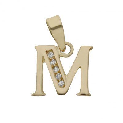 Colgante inicial oro circonitas. L Ref; G69