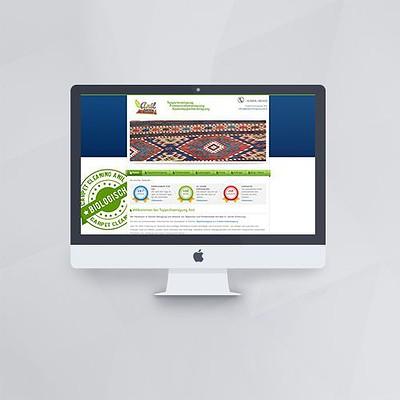 Webdesign - Webseite für Anil Teppichreinigungmit Joomla