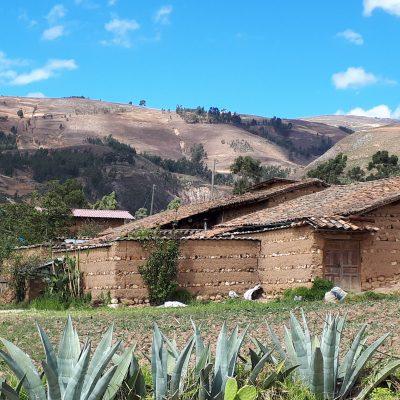 adobe house in rural cajamarca